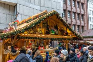 Europe, Germany, Bavaria, Munich, city center, Marienplatz, Christmas market at Marienplatz in Munich