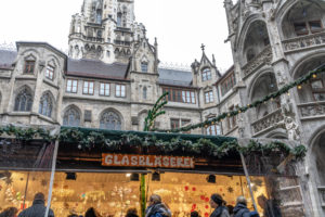 Europe, Germany, Bavaria, Munich, Christmas market in the courtyard of the New Town Hall on Munich's Marienplatz