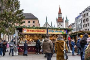 Europa, Deutschland, Bayern, München, Stadtzentrum, Marienplatz, Weihnachtsmarkt