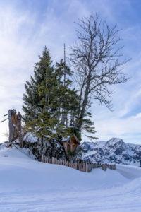 Europa, Österreich, Berchtesgadener Alpen, Salzburg, Werfen, Ostpreussenhütte, Christus-Figur in der Berglandschaft der Berchtesgadener Alpen