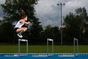 Woman, 24 years, athletics, jumping strength training, Baden-Württemberg, Germany
