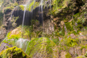 Urach waterfall, Swabian Alb, Baden-Württemberg, Germany