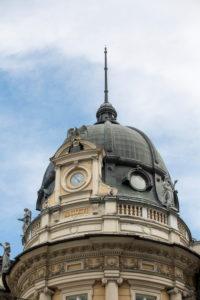 Dome of the post office building in Ljubljana, Slovenia