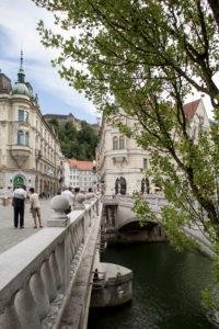 The Three Bridges in Ljubljana, Slovenia