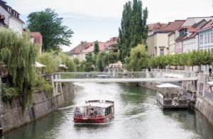 Boat on the Ljubljanica River, Slovenia
