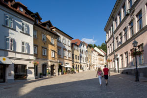 Street in Ljubljana's city center