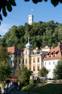 Ljubljana's city center and the castle