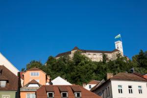 View on the castle of Ljubljana, Slovenia