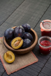 Plums and plum compote