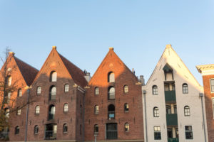 Netherlands, Groningen, canal houses