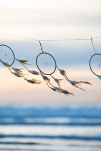 spanned dream catcher on the beach