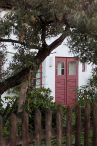 Tür an einem Landhaus