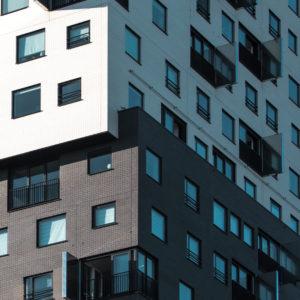modernes Gebäude in den Niederlanden