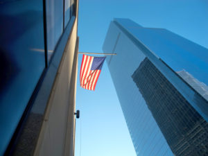 Skyscrapers in the Financial District of Manhattan, New York City, USA