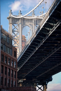 Manhattan Bridge in New York City, USA,