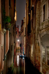Night shot in Venice, Italy