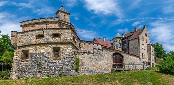 Schloss Lichtenstein, Honau, Baden-Württemberg, Deutschland, Europa