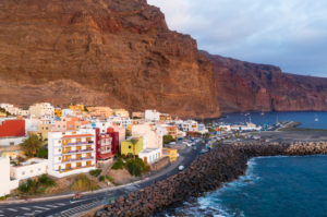 Vueltas, Valle Gran Rey, aerial view, La Gomera, Canary Islands, Spain