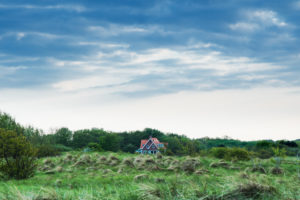 A house in the dunes near Renesse, the Netherlands