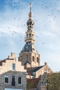 The steeple of Zierikzee, the Netherlands
