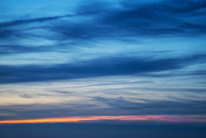 Evening sky over the North Sea