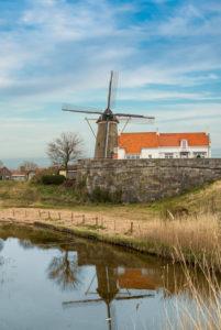 Historic windmill in Zierikzee, Netherlands