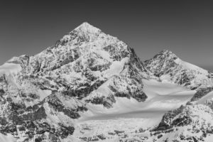 Switzerland, Valais, Zermatt, Dent Blanche and Grand Cornier from the south