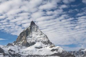 Schweiz, Wallis, Zermatt, Wolken über dem Matterhorn von Osten, Furgggrat, Ostwand und Hörnligrat