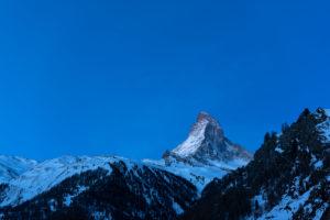 Switzerland, Valais, Zermatt, dawn on the Matterhorn - Furgggrat, east wall, Hörnligrat, north wall and Zmuttgrat
