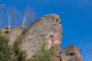 Deutschland, Baden-Württemberg, Landkreis Calw, Bad Herrenalb, Naturpark Schwarzwald, Naturdenkmal Falkenfelsen