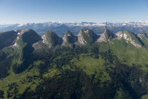 Switzerland, Appenzeller Alps, Toggenburg, Churfirsten, Chäserrugg, Hinterrugg, Schibenstoll, Zuestoll, Brisi, Frümsel, Selun