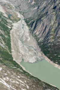 Schweiz, Kanton Bern, Berner Alpen, Berner Oberland, Mündung des Unteraargletscher in den Grimselsee
