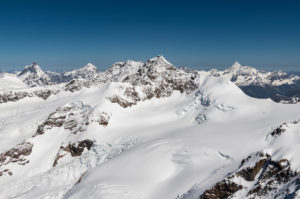Italy, Piedmont, Switzerland, Canton of Valais, Liskamm in the foreground, Matterhorn, Dent Blanche, Zinalrothorn and Weisshorn in the background