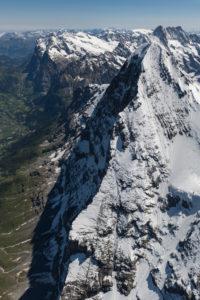 Schweiz, Kanton Bern, Berner Oberland, Berner Alpen, Eiger Nordwand von oben