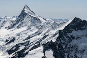 Switzerland, Canton of Bern, Bernese Oberland, Bernese Alps, Finsteraarhorn, Ochs Kleines Fiescherhorn