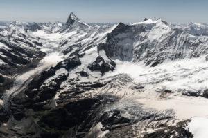Switzerland, Canton of Bern, Bernese Oberland, Bernese Alps, Finsteraarhorn, Fiescherhörner