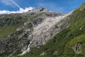 Schweiz, Kanton Wallis, Furkapass, Rhonegletscher