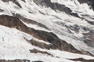 Schweiz, Kanton Wallis, Saastal, Saas-Fee, Gletscherspalten Feegletscher