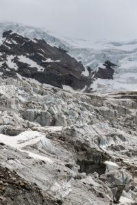 Switzerland, Canton of Valais, Saas Valley, Saas-Grund, Weissmies, Trift Glacier