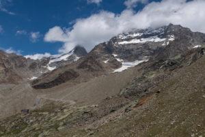Switzerland, Canton of Valais, Saas Valley, Saas-Grund, Lagginhorn, Fletschhorn, Weissmieshütten