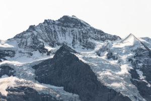 Switzerland, Canton Bern, Bernese Oberland, Grindelwald, Wengen, Jungfrau, Silberhorn, Giessengletscher, Chielouwenengletscher