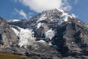 Switzerland, Canton Bern, Bernese Oberland, Grindelwald, Wengen, Kleine Scheidegg with a view of Mönch, Eigergletscher, Nollengletscher