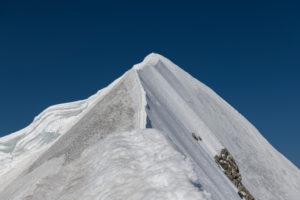 Switzerland, Canton Bern, Bernese Oberland, Mönch, summit ridge