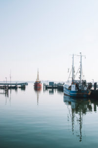 Hafen in Maasholm Bad, Schleswig Holstein.