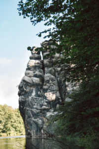 Teutoburg Forest around the Externsteine in Horn-Bad Meinberg, North Rhine-Westphalia, Germany
