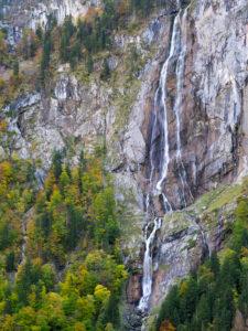 Röthbachfall im Herbst, Nationalpark Berchtesgaden, Bayern, Deutschland