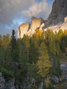 Geislerspitzen im Abendlicht, Villnößtal, Naturpark Puez-Geisler, Dolomiten, Südtirol, Italien