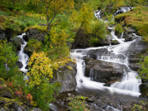 Wasserfall, Insel Senja, Norwegen