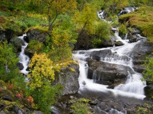 Waterfall, Senja island, Norway