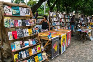 Book market in Havana, Cuba